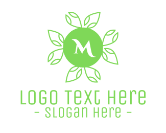 Natural Therapy - Green Natural Lettermark logo design