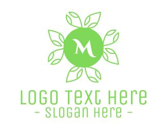 Crop - Green Natural Lettermark logo design