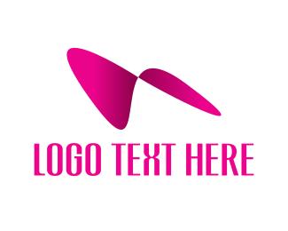 Boomerang - Pink Abstract Wings logo design