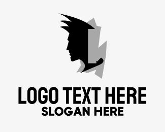 Bachelor - Man Head logo design