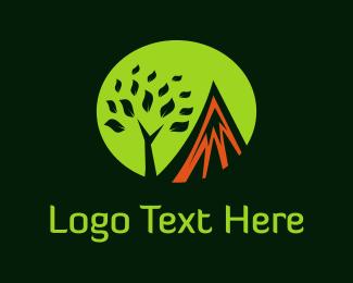 Retreat - Mountain & Tree logo design
