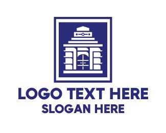 Temple - Modern Konark Sun Temple logo design