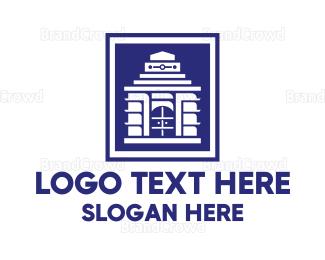 Air Travel - Modern Konark Sun Temple logo design