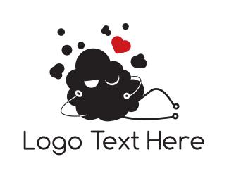 Flirty - Sexy Cloud logo design