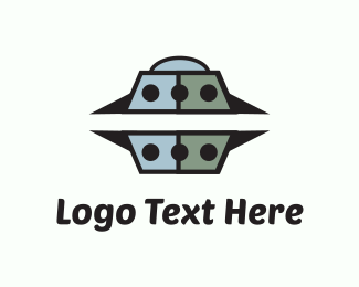 Gamer - Grey UFO logo design