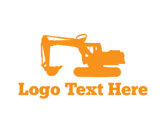 Digger - Excavator Machine logo design