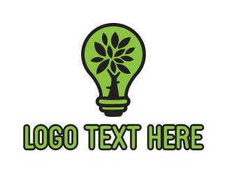 Eco Energy - Eco Lamp logo design