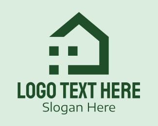 Realty - Green Housing Realty logo design