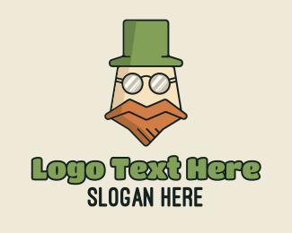 Specs - Old Leprechaun Mascot logo design