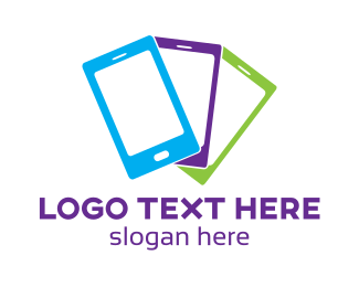 Telecommunications - Colorful Mobile Phone logo design