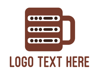 4g - Coffee Server logo design