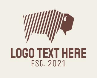 Restaurant - Wild Bison Stripes logo design