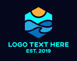 Summer - Beach Vibes logo design