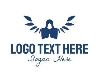 Blue Angel - Prayer Angel  logo design