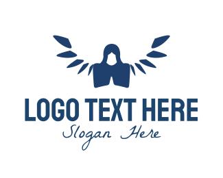 Angel - Prayer Angel  logo design