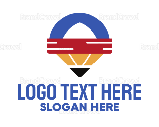 University - Pencil Locator App logo design