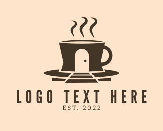 Brewed Coffee - Cafe Coffee House logo design