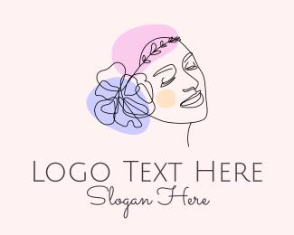 Fashion Designer - Fashion Woman Flower logo design