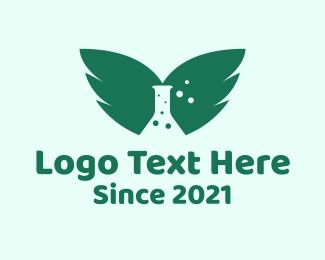 Medical - Wings Chemistry Bottle logo design