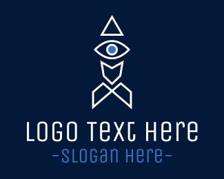 Missile - Space Eye logo design