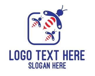 Swarm - American Bees logo design