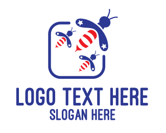 Politician - American Bees logo design