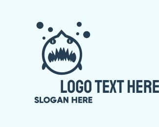 Predator - Black Shark  logo design