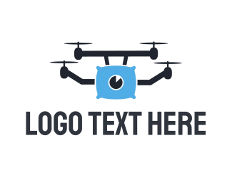 Helicopter - Pillow Drone logo design