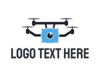Sleep - Pillow Drone logo design