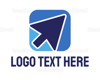 Mobile Phone - Cursor App logo design
