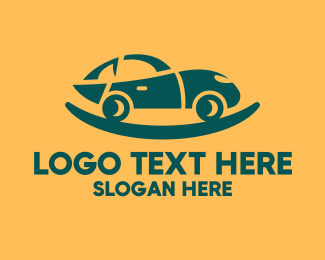 Car Parts - Green Car Cradle logo design