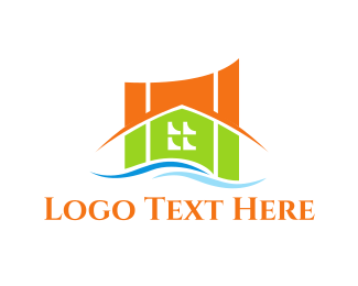 Solar Panel - River House logo design