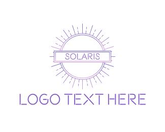 Purple Sun - Modern Sun Tech logo design