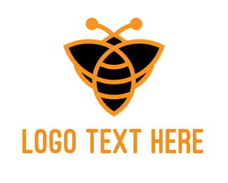 Bumblebee - Orange Bee logo design