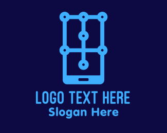 Wearable - Mobile Phone App Technology logo design