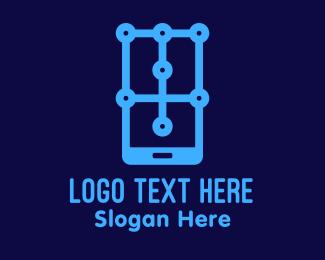 Communication - Mobile Phone App Technology logo design