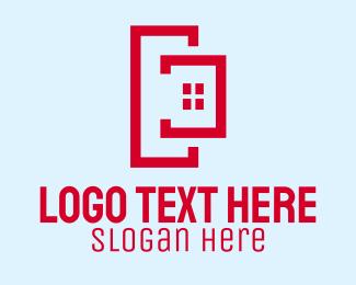 Property - Modern Red Property logo design