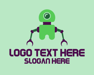 Cyclops - Green Toy Robot logo design