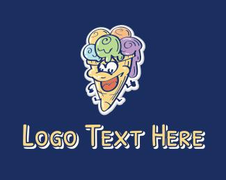 Ice Cream Cone - Ice Cream Mascot  logo design
