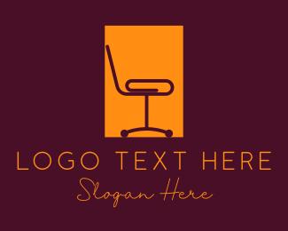 Rectangle - Office Clip Chair logo design