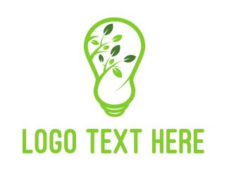 Lightening - Eco Light logo design