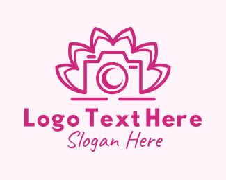 Event Photography - Abstract Lotus Camera logo design