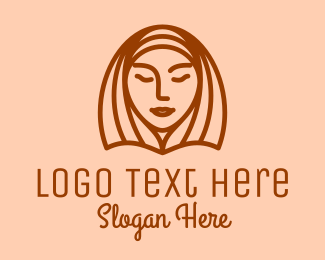 Facial - Woman Beauty Face   logo design