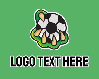 Athlete - Monster Soccer logo design