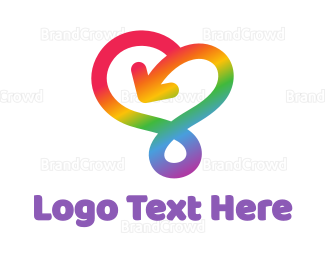 Rainbow - Arrow Rainbow Stroke logo design