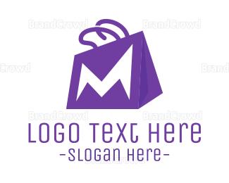 Bag - Letter M Bag logo design