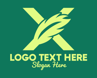 Company - Modern Feather Letter X logo design