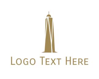 Skyscraper - Golden Abstract Skyscraper logo design