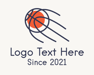 Blast - Monoline Basketball Blast logo design