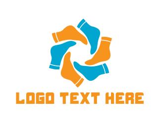 Feet - Sock World logo design